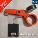 BLACK CABLE TIE GUN PACK 12
