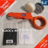 BLACK & WHITE CABLE TIE GUN 24