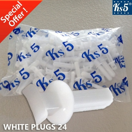WHITE PLUGS 24