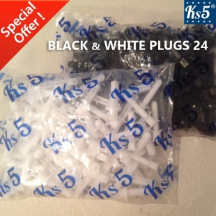 BLACK & WHITE PLUGS 24