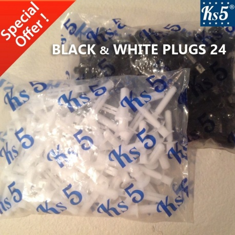 BLACK & WHITE PLUGS 24