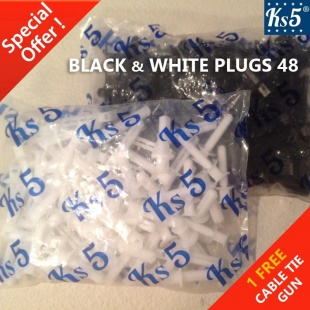 BLACK & WHITE PLUGS 48