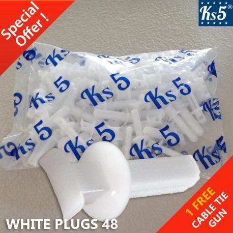 WHITE PLUGS 48