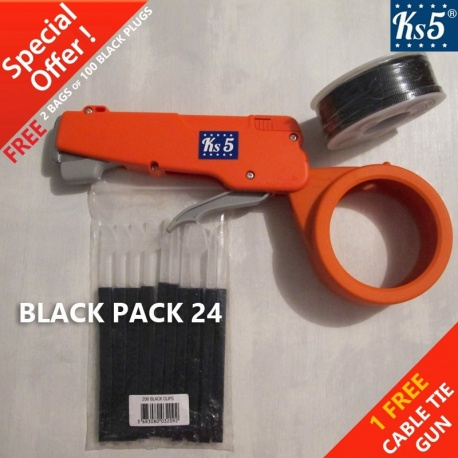 BLACK CABLE TIE GUN 24