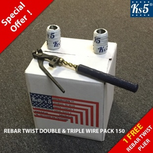 REBAR TWIST DOUBLE & TRIPLE WIRE PACK 150
