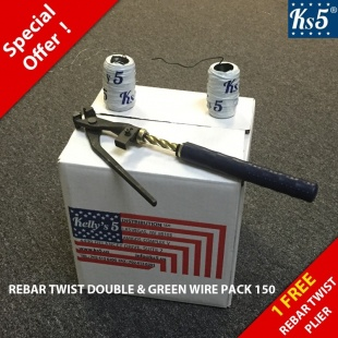 REBAR TWIST DOUBLE & GREEN WIRE PACK 150