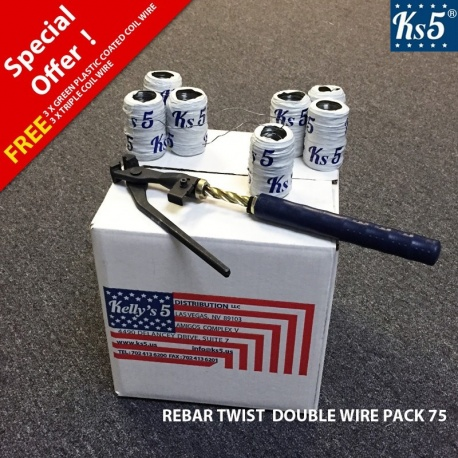 REBAR TWIST DOUBLE WIRE PACK 75