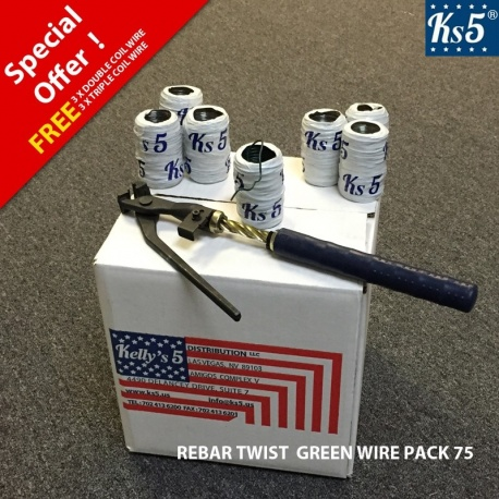 REBAR TWIST GREEN WIRE PACK 75