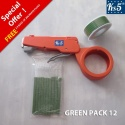 GREEN CABLE TIE GUN PACK 12